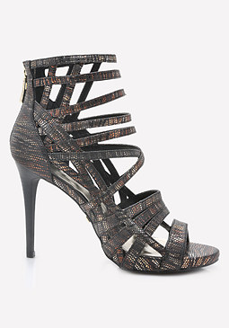 bebe Aubrea Metallic Sandals