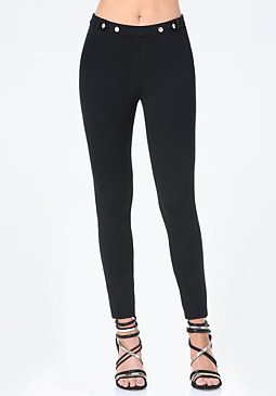 bebe Snap Waist Leggings