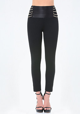 bebe High Chain Waist Leggings