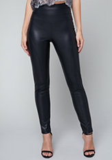 bebe Faux Leather High Leggings