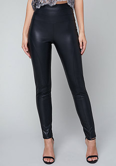 Faux Leather High Leggings