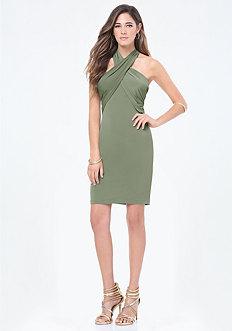 Crossfront Halter Dress