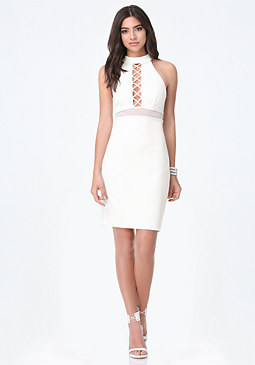 bebe Petite Cutout Dress
