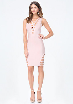 bebe Petite Cage Detail Dress