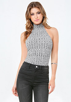 Variegated Rib Knit Top