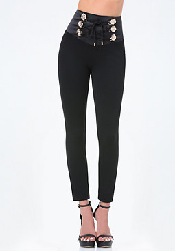 bebe Petite Belle High Leggings