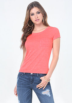bebe Slub Knit Top