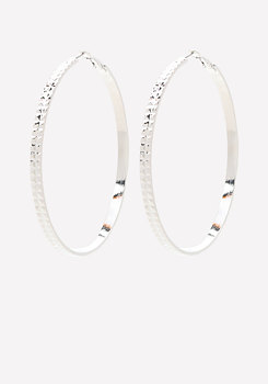bebe Pyramid Stud Hoop Earrings