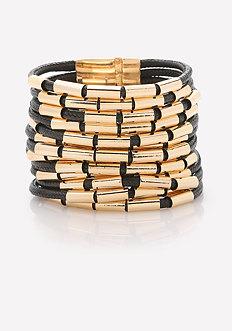 Tube Bead Strand Bracelet