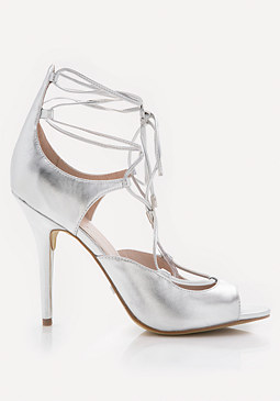 bebe Laraa Metallic Sandals