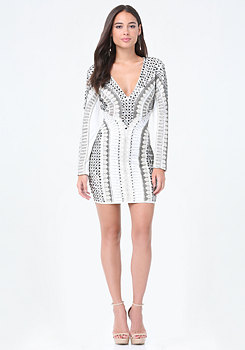 bebe Kirstie Embellished Dress