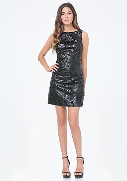 bebe Coated Lace Dress