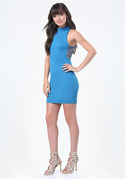 bebe Gina Side Lace Up Dress