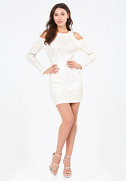 bebe Glam Embellished Dress