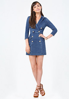Denim Coat Dress