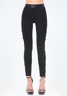 bebe Petite Side Detail Leggings