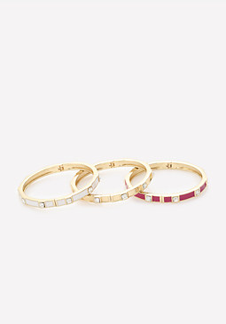 bebe Color Enamel Bracelet Set