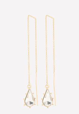 bebe Crystal Teardrop Earrings