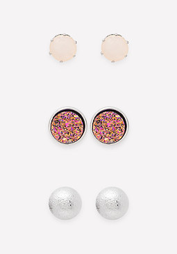 bebe Druzy Earring Set