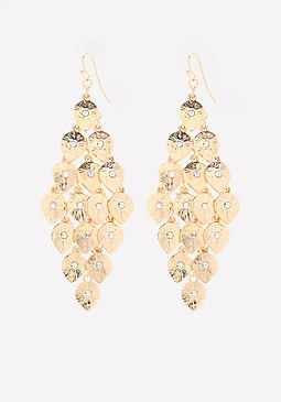 bebe Petal Chandelier Earrings