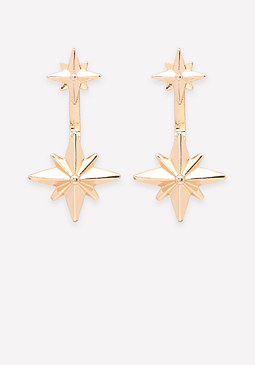 bebe Front-Back Star Earrings