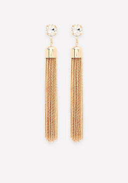 bebe Tassel Fringe Earrings