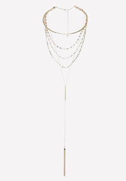 bebe Collar & Chain Necklace