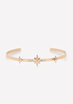bebe Metal Star Choker