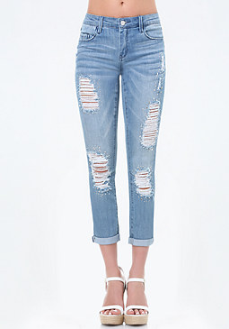 bebe Crystal Girlfriend Jeans