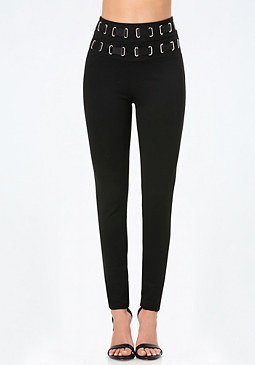 bebe Threaded High Rise Leggings