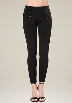 Twill Snap Strap Leggings