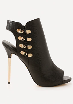 bebe Evinn Open Toe Booties