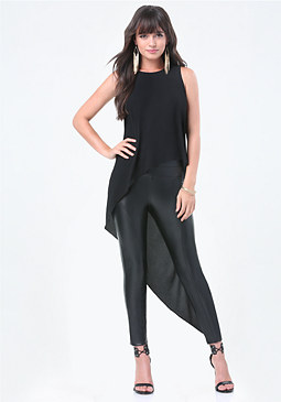 bebe Asymmetric Sleeveless Tunic