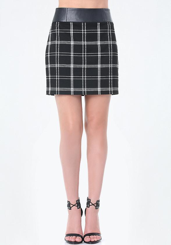 plaid miniskirt skirts bebe. Black Bedroom Furniture Sets. Home Design Ideas