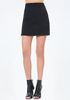 Textured Knit Miniskirt