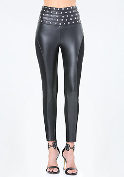 bebe Le Rock Corset Leggings