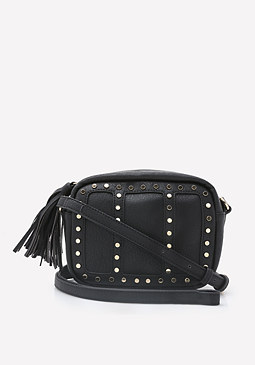 bebe Studded Crossbody Bag