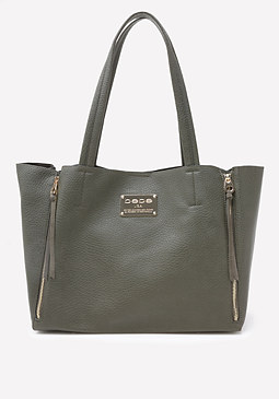 bebe Side Zip Tote
