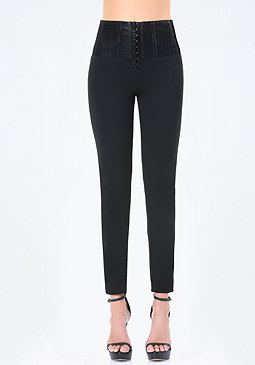 bebe Hook & Eye High Leggings
