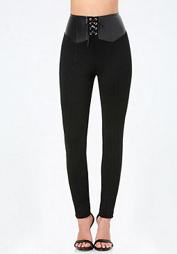 bebe Nadja Laced High Leggings