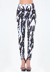 bebe Print High Waist Leggings