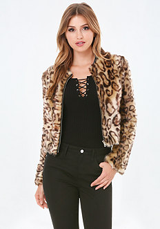 Faux Leopard Jacket