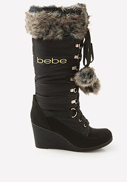bebe Logo Rennee Puffy Boots