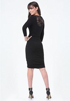 Logo Lace Back Dress