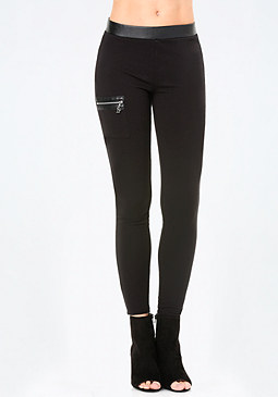 bebe Logo Pocket Leggings