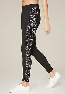 Logo Mixed Dot Leggings at bebe