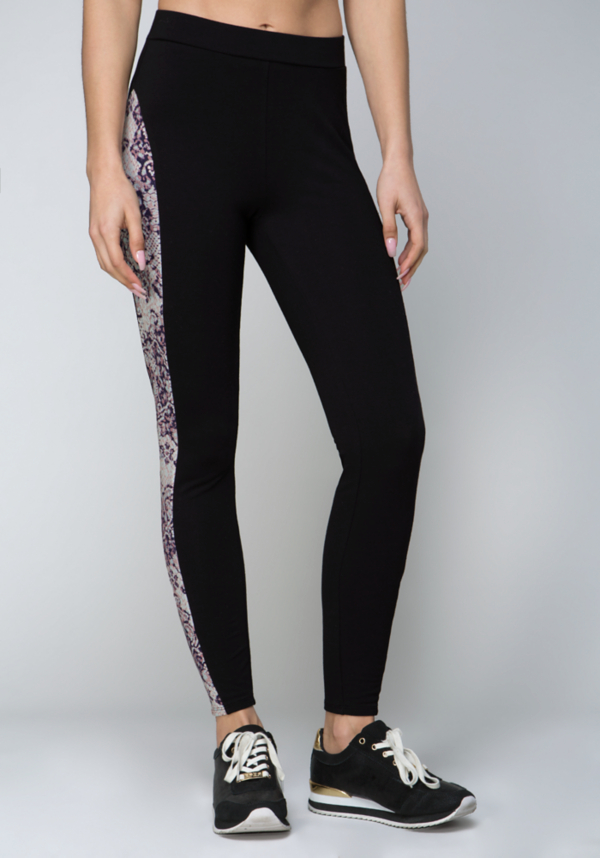Logo Mixed Dot Leggings at bebe in Sherman Oaks, CA | Tuggl