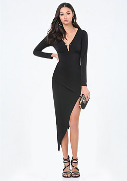 bebe Blaze Asymmetric Dress