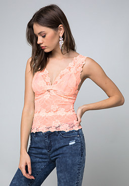 bebe Lace Lingerie Top