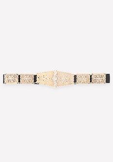 Ornate Metal Stretch Belt